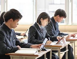 タブレットを使用した授業風景